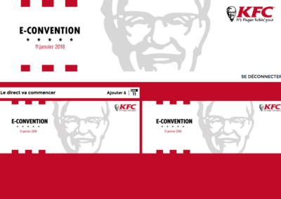 Webcast KFC interface